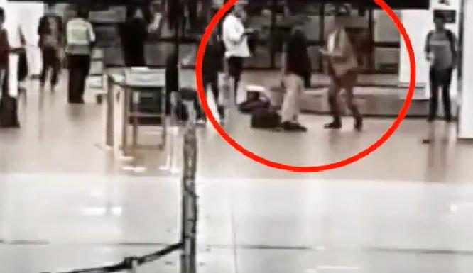 Capturarbg - Diplomatas brasileiros trocam socos e tapas em aeroporto - VEJA VÍDEO