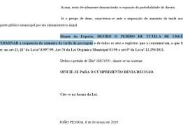 Justiça suspende aumento de passagens em JP, e prefeito assina novo decreto para regularizar reajuste; LEIA DECISÃO