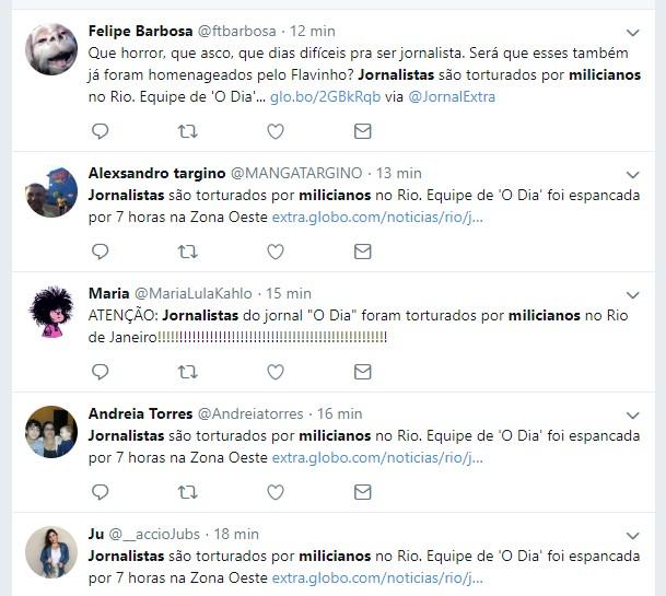 FAKE NEWS - É antiga a notícia de que jornalistas foram espancados por milícias no Rio