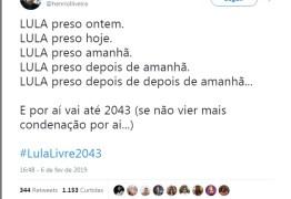 #LULALIVRE2043: após segunda condenação, internautas fazem piada com sentença de Lula; militantes defendem ex-presidente