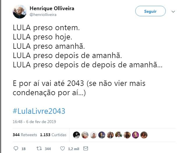 Lula 2043 - #LULALIVRE2043: após segunda condenação, internautas fazem piada com sentença de Lula; militantes defendem ex-presidente