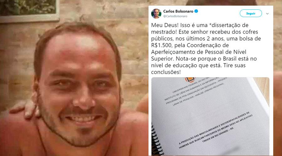 carlos bolsonaro tinder - Professora repudia assédio moral promovido por Carlos Bolsonaro a mestrando da FURG