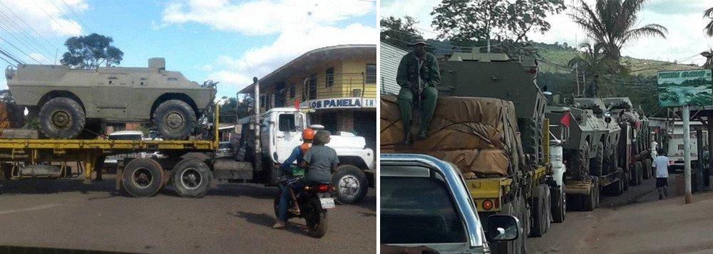 images cms image 000621559 - Maduro reage á ação de Bolsonaro e manda tanques para a fronteira
