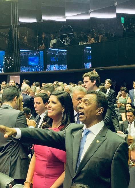 lígia e damiao - Representando João Azevedo, vice Lígia Feliciano participa da sessão de posse dos deputados federais em Brasília