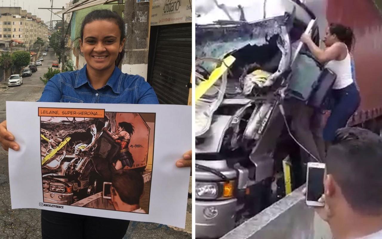 leiliane2 - Jovem que socorreu motorista após acidente com helicóptero luta contra doença rara: 'Não sou Mulher Maravilha'