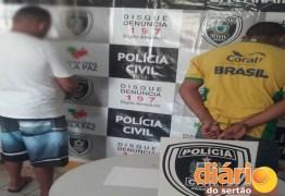 Pai e filho são preso por assaltos a postos de gasolina no sertão do Estado