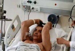 Já em quarto, Beto Barbosa aparece em vídeo fazendo exercícios: 'Faltando pouco'
