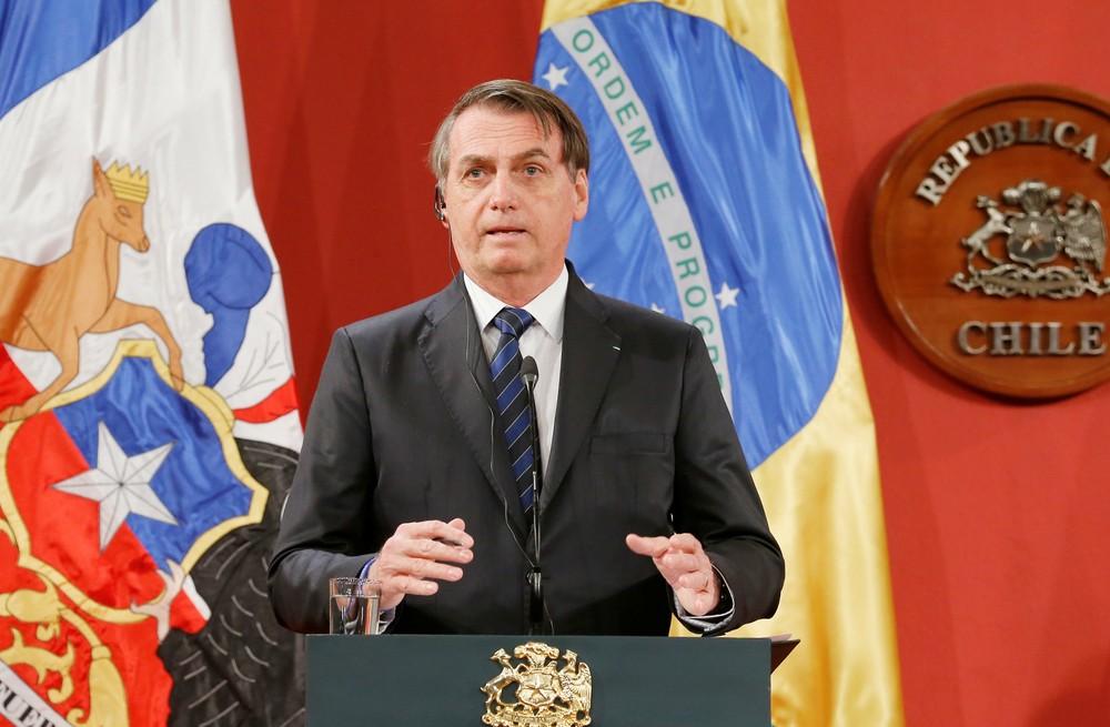 2019 03 23t162939z 575753212 rc16b3fc3500 rtrmadp 3 chile brazil MsI9gxQ - Bolsonaro responde Maia, diz que reforma é responsabilidade do parlamento e crava: 'alguns não querem largar a velha política'