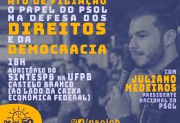 Presidente Nacional do PSOL participa de ato de filiação partidária na UFPB
