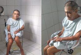 Debilitado, idoso aguarda há uma semana por uma colonoscopia no hospital de Patos e família se revolta
