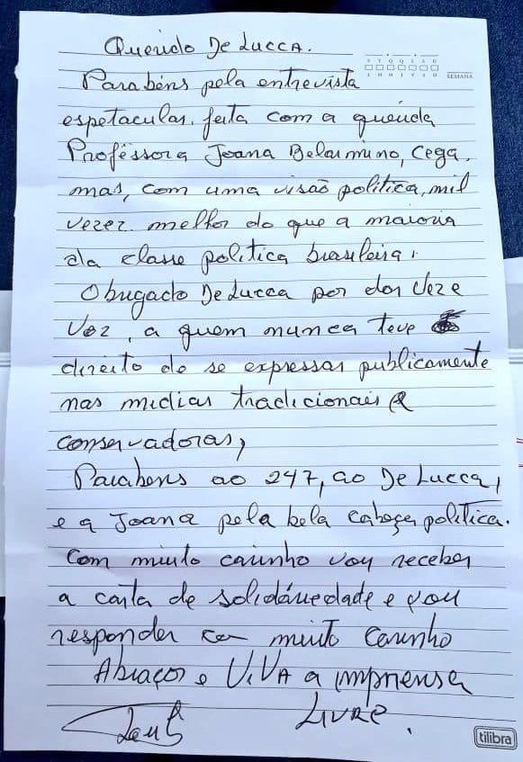 940b9263 5ec5 47b5 9bfe cbe1558700b7 - Professora da UFPB é elogiada por Lula em carta e participará de caravana a Curitiba