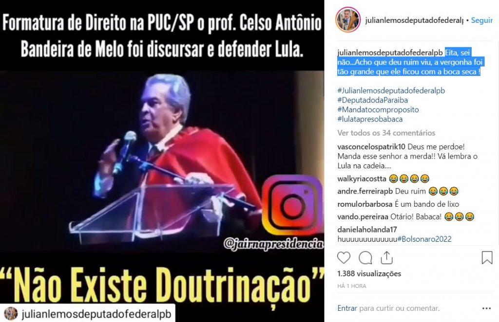 PRESOS 1024x662 - Julian Lemos posta vídeo de renomado professor de direito sendo vaiado por ovacionar Lula em Formatura; deputado lamenta doutrinação