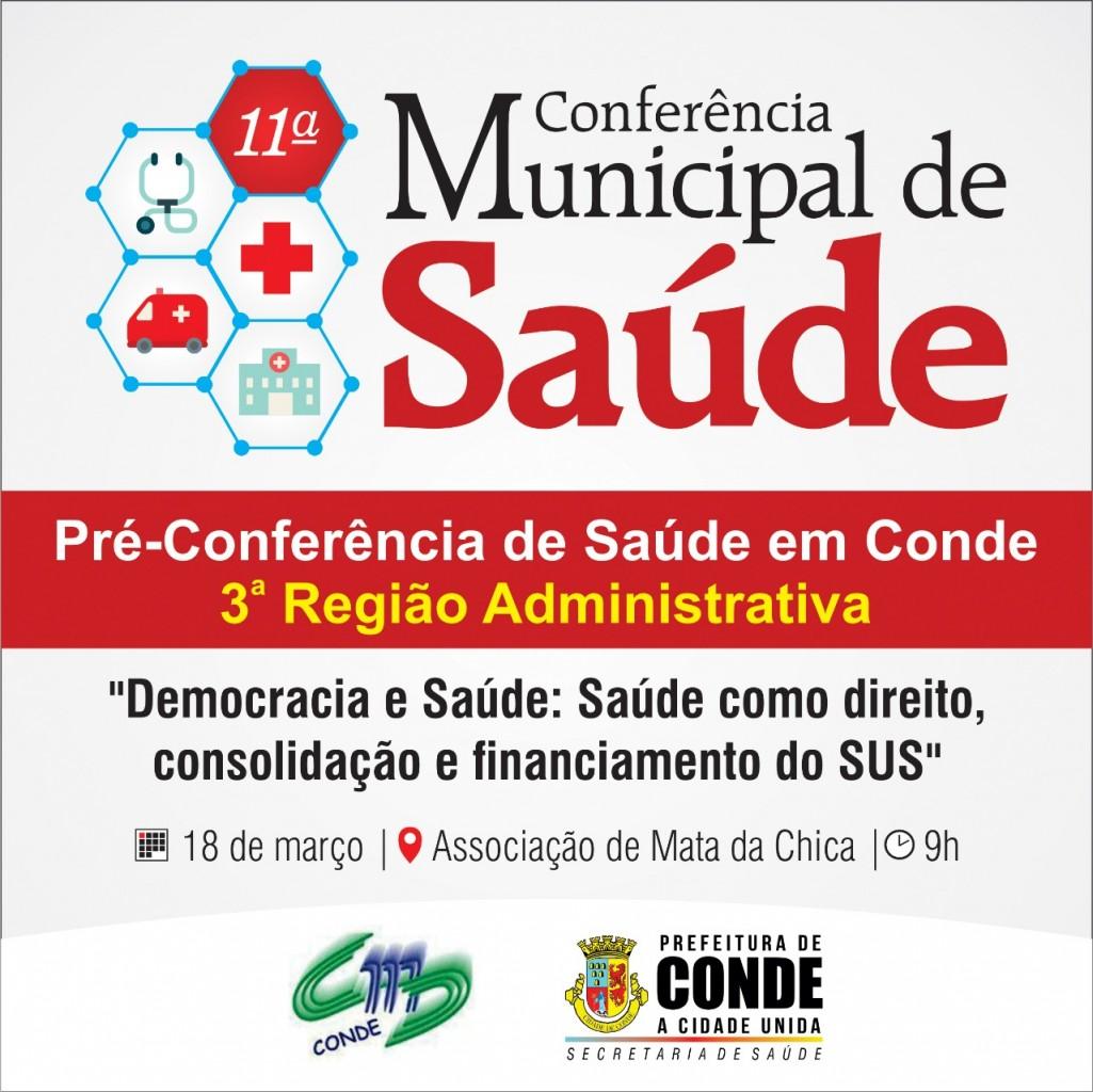 Pré Conferência Municipal de Saúde 1 - Conselho Municipal de Saúde de Conde inicia pré-conferências para a 11º Conferência Municipal de Saúde