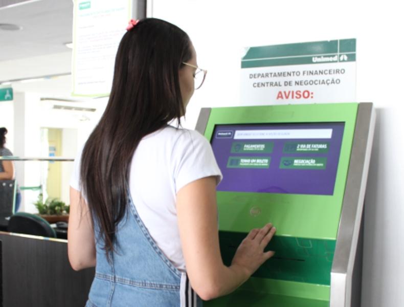 Unimed  Terminal de Autoatendimento - Unimed João Pessoa instala novos serviços no terminal de autoatendimento