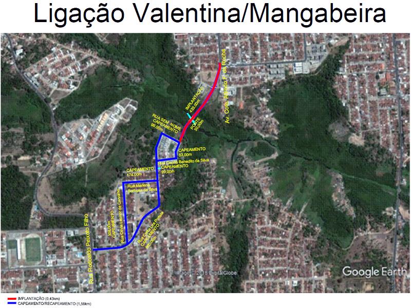 der via alternativa Valentina Mangabeira - Governo do Estado vai construir vias alternativas de ligações em bairros da zona sul