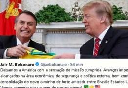 Após entregar o Brasil a Teimosia, Bolsonaro diz que sai com a sensação de missão cumprida