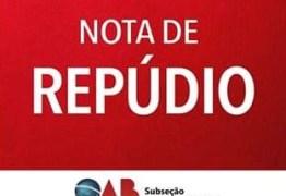 OAB de Campina Grande emite nota de repúdio a fala de Romero Rodrigues