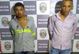 Dupla é presa suspeita de assaltar uma distribuidora de gás em Gramame
