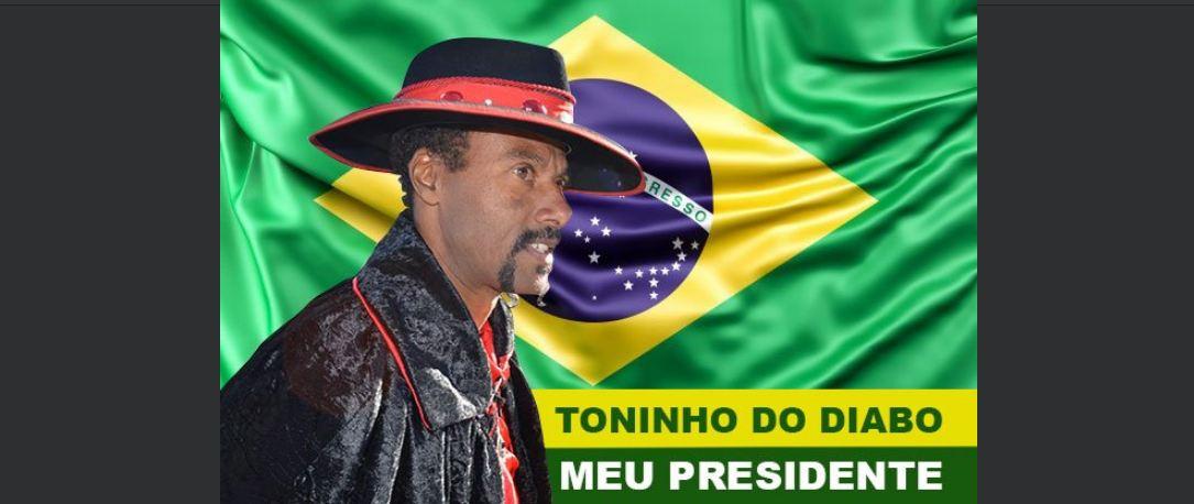 toninho - Toninho do Diabo proclamou-se presidente do Brasil