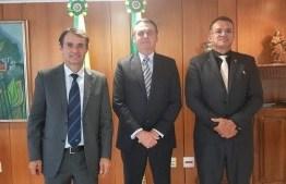 REUNIÃO: Romero Rodrigues é recebido pelo presidente Jair Bolsonaro no Palácio do Planalto