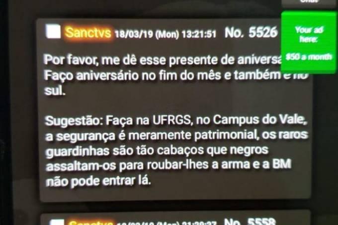 whatsapp image 2019 03 20 at 14.05.11 696x1237 - PF se mobiliza após ameaças a universidades em fórum no qual atentado de Suzano foi planejado