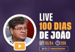 CEM DIAS DE JOÃO AZEVEDO: governador faz balanço da gestão e fala em dar continuidade ao trabalho do governo anterior