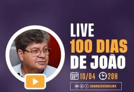CEM DIAS DE JOÃO AZEVEDO: em comemoração, governador faz live nas redes sociais e responde perguntas de internautas nesta quarta-feira