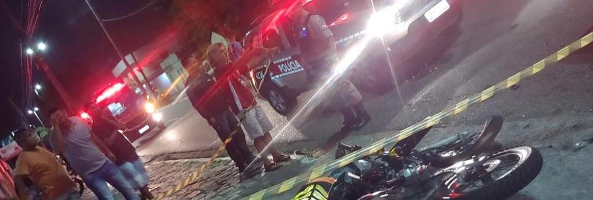 ACIDENTE MOTOCICLISTA ATINGIDO CARRO ALTA VELOCIDADE CRUZ DAS ARMAS - Levantamento aponta que em João Pessoa, 79% dos acidentes de trânsito em 2018 envolveram motos