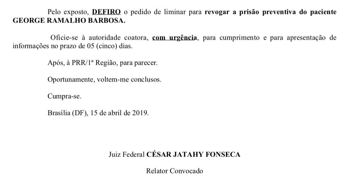 WhatsApp Image 2019 04 15 at 16.53.20 - Juiz federal revoga prisão preventiva de empresário paraibano preso em operação da PF