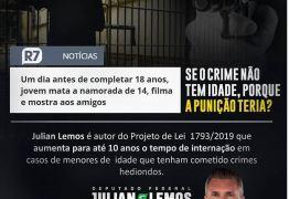 PL de Julian Lemos aumenta para 10 anos tempo de internação de menores: 'Se o crime não tem idade, porque a punição teria?'
