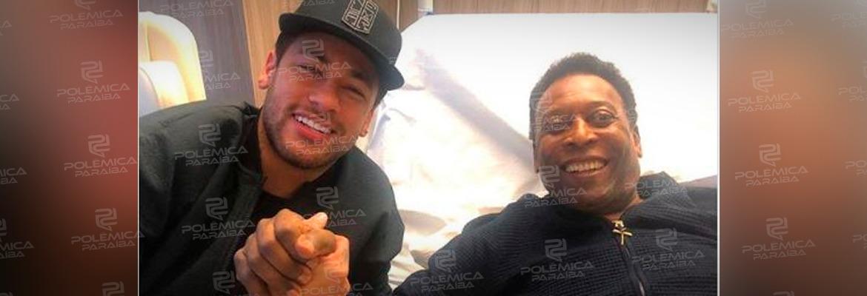 neymar pelé - Neymar publica foto ao lado de Pelé em Hospital na França
