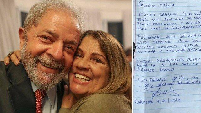 xtassia lula.jpg.pagespeed.ic .c0l0fsfJTp - Lula envia carta escrita a mão à atriz Tássia Camargo desejando melhoras