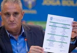 """Tite divulga """"lista mais difícil"""" com Neymar, David Neres e Daniel Alves para a Copa América"""
