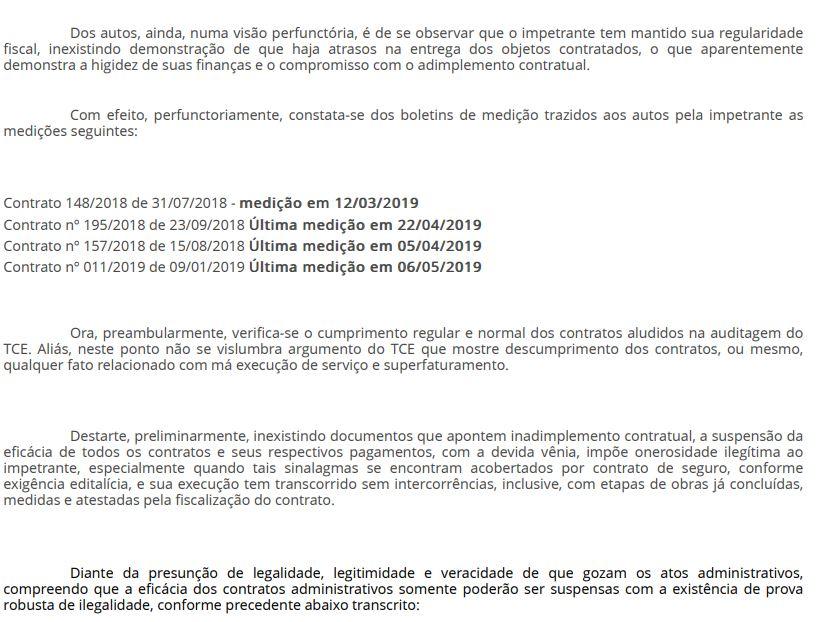 6 - EFICÁCIA RESTABELECIDA: Juiz libera pagamento da Cagepa à empresa vencedora de licitação