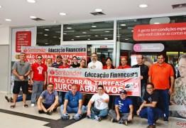 Sindicato protesta contra Santander abrir agências aos sábados na Paraíba