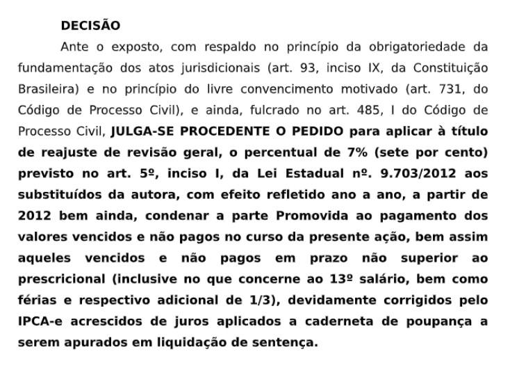 Capturar 12 - Juiz concede7%de reajuste retroativo a 2012 a procuradores do Estado da Paraíba