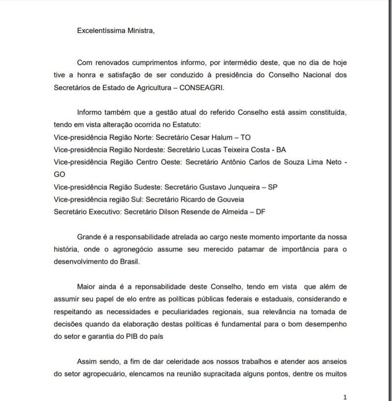 Capturar 55 - Efraim Morais participa de reunião com a ministra da Agricultura Tereza Cristina