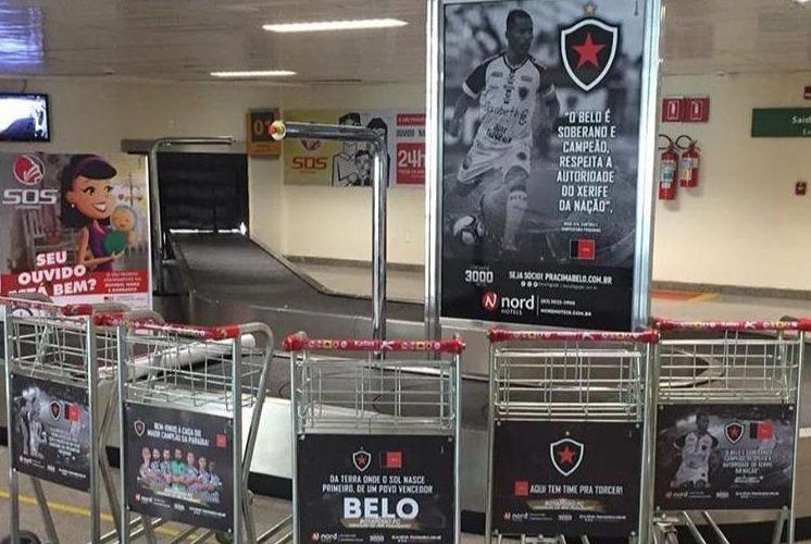 Aeroporto Castro Pinto se veste de Botafogo-PB no dia da final da Copa do Nordeste – VEJA IMAGENS