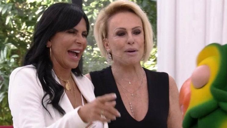 gretchen e ana maria braga - Ana Maria Braga apresenta Gretchen como 'cantora e estrela pornô' - VEJA VÍDEO