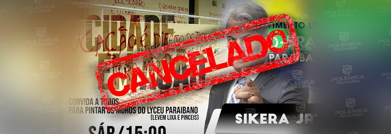 montagem462 - PATRIMÔNIO TOMBADO: Sikêra Jr. não pede autorização ao IPHAEP e acaba cancelando mutirão de limpeza das pichações do Lyceu Paraibano
