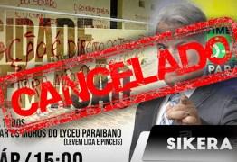 PATRIMÔNIO TOMBADO: Sikêra Jr. não pede autorização ao IPHAEP e acaba cancelando mutirão de limpeza das pichações do Lyceu Paraibano
