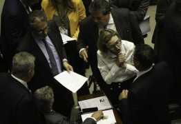 'NÃO ME EMPURRE': deputada Maria do Rosário 'esbarra' em colegas e causa confusão na Câmara; VEJA VÍDEO