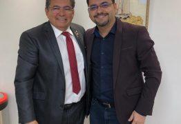 COMPROMISSO: Berg Lima se reúne com presidente da ALPB Adriano Galdino e sela aliança