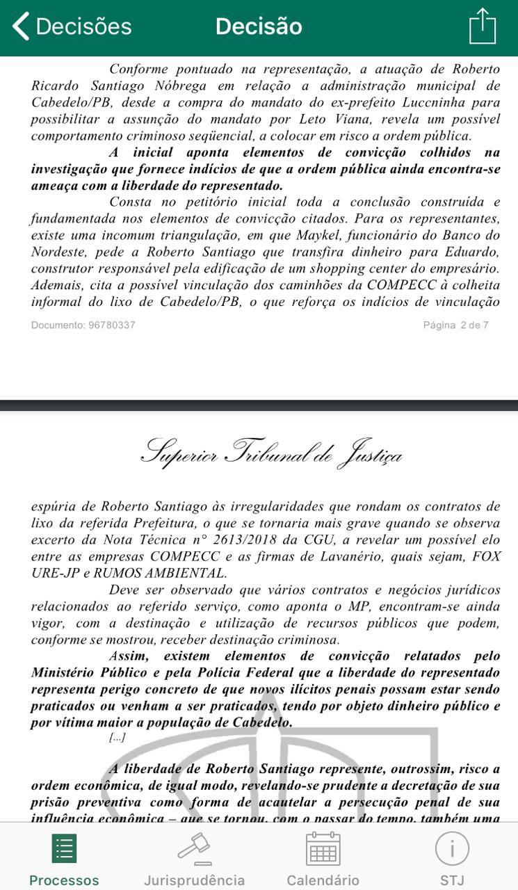 97d2ce84 5e30 4f3a a444 ee54fc0ebe06 - EXCLUSIVO: Felix Fischer julga recurso de habeas corpus de Roberto Santiago, preso da Xeque Mate; saiba o resultado