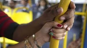ASSÉDIO ONIBUS - ÔNIBUS, TÁXI OU UBER*: Pesquisa mostra que 97% das mulheres já sofreram assédio em transporte