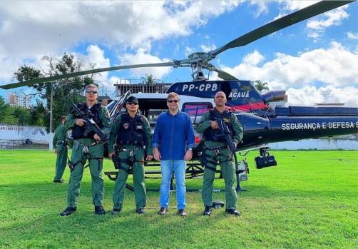 Capturar 56 - PERÍODO JUNINO: Corpo de Bombeiros da PM faz simulação de resgate aéreo - VEJA VÍDEO