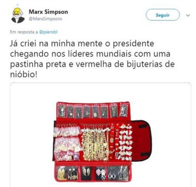 Capturar5y - Bolsonaro mostra bijuteria e talheres de nióbio de R$ 5,5 mil no Japão e vira meme - VEJA VÍDEO