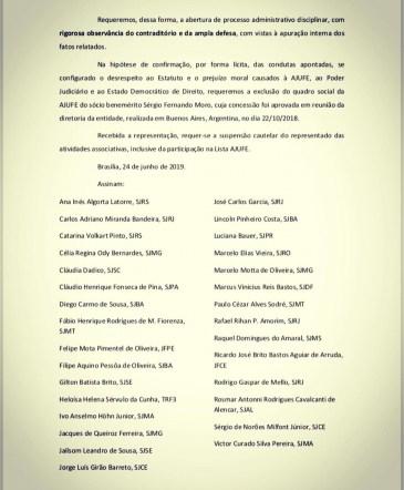 WhatsApp Image 2019 06 25 at 6.07.34 AM 248x300 - SUSPENSO: Juízes Federais de todo o Brasil pedem a exclusão de Sérgio Moro da associação da categoria
