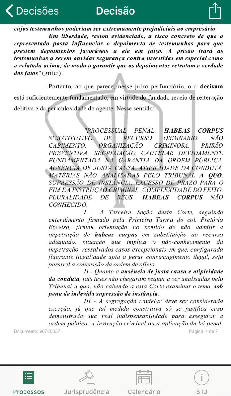 a3aa4fa7 7412 4ac8 a8d6 8210026d9caa - EXCLUSIVO: Felix Fischer julga recurso de habeas corpus de Roberto Santiago, preso da Xeque Mate; saiba o resultado