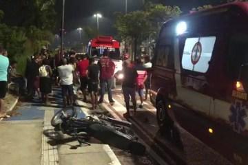 acidente moto - Homem morre e duas pessoas ficam feridas em acidente com moto em João Pessoa